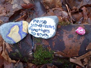 Please leave these rocks for others to enjoy